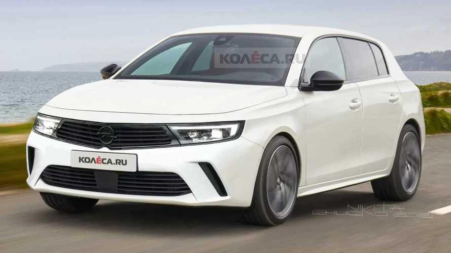 Opel Astra L (2021): Rendering nach neuen Erlkönigbildern