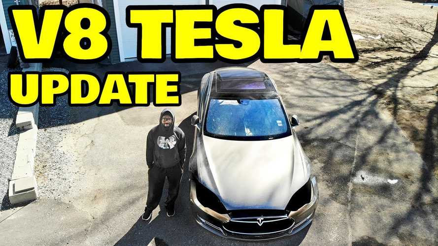 V8 Tesla Model S Has A Name: ICE-T, Internal Combustion-Engined Tesla