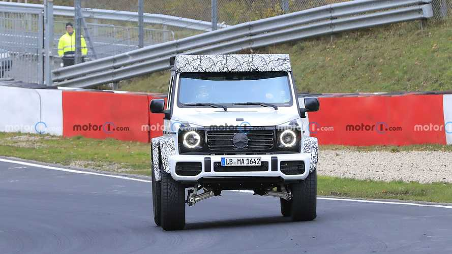2022 Mercedes G-Class Squared spy photos from Nurburgring