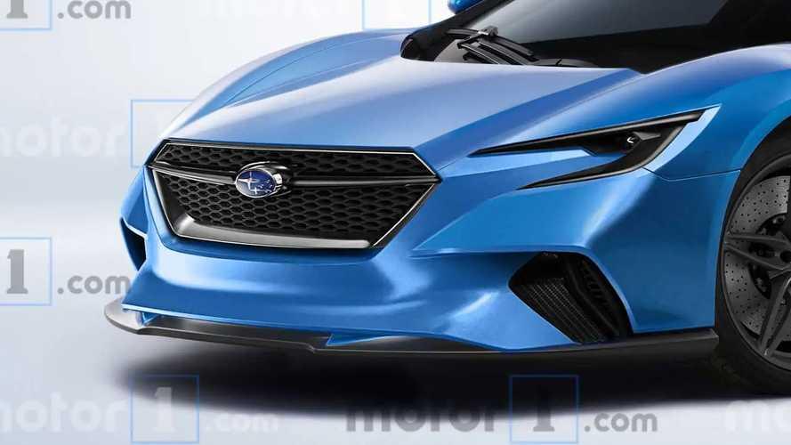 Subaru Mid-Engine Sport Car rendering
