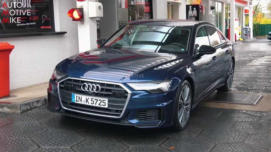 Audi S6 spied with no disguise on video and in photos