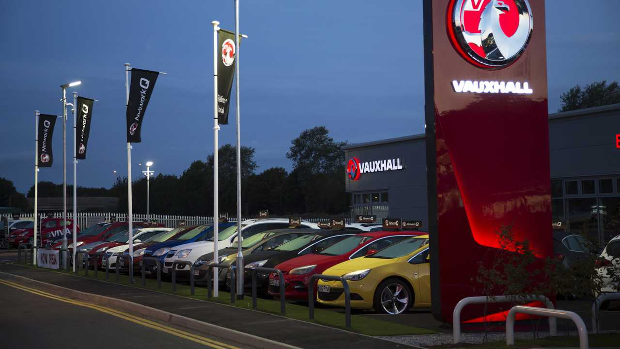 Vauxhall car dealership in Cambridge England