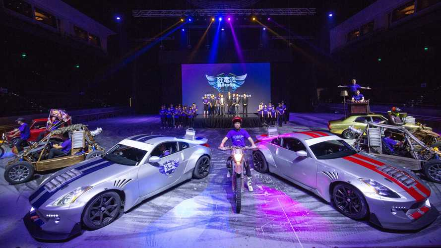 World's first all-electric car stunt show opening in China
