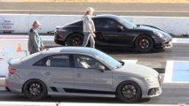 Audi RS3, Porsche 718 Cayman Drag  Yarışı