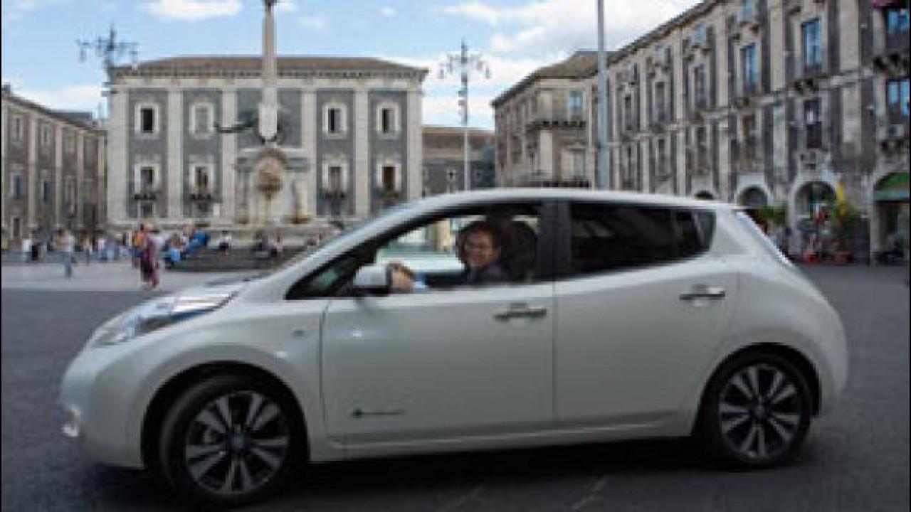 [Copertina] - Una Nissan Leaf per il sindaco di Catania