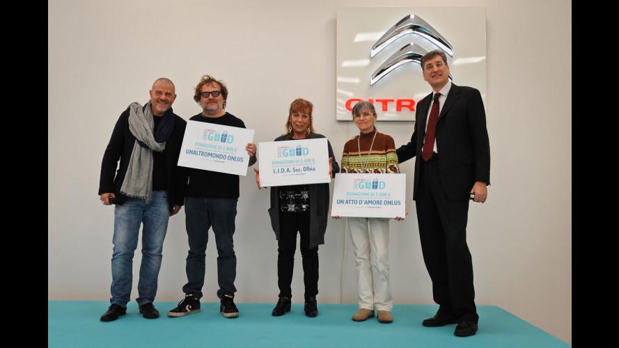 """Citroen """"Be Good"""", consegnati i 15.000 euro del concorso"""