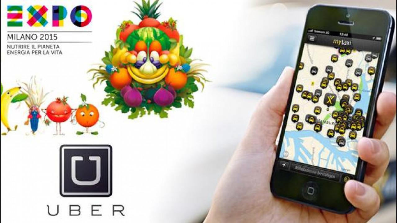 [Copertina] - EXPO 2015, Uber e mytaxi si contendono clienti