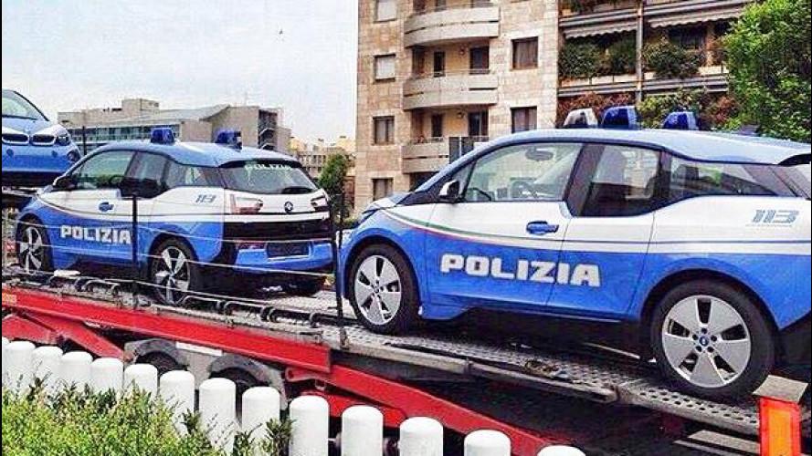 BMW i3, la Polizia viaggia in elettrico