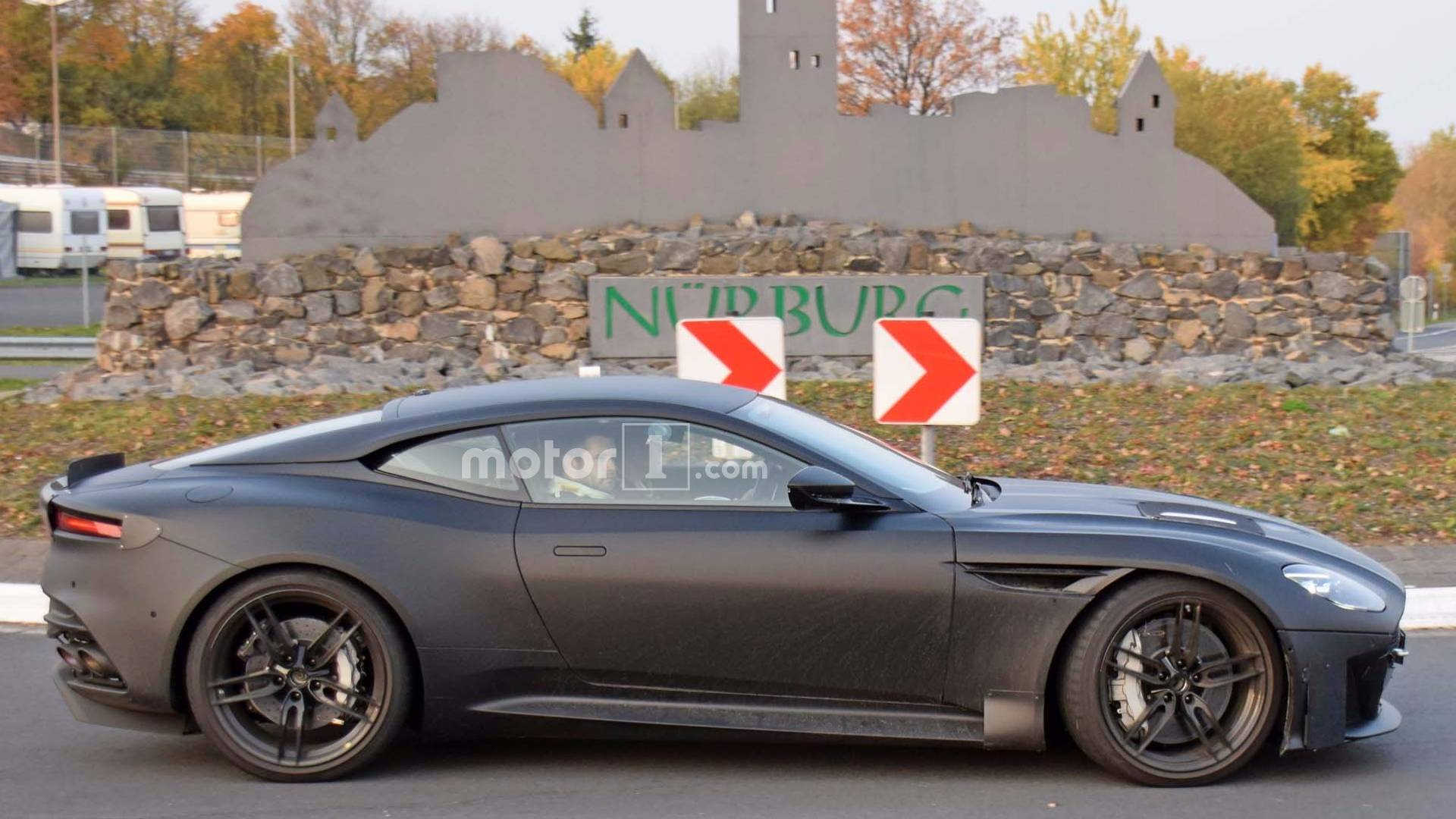 2019 aston martin vanquish spied looking mean at nürburgring