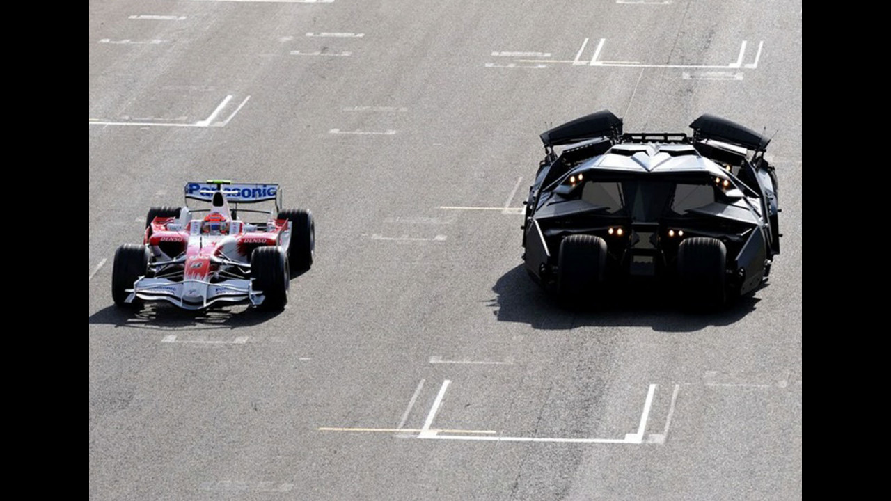 Batmobile vs. Toyota F1