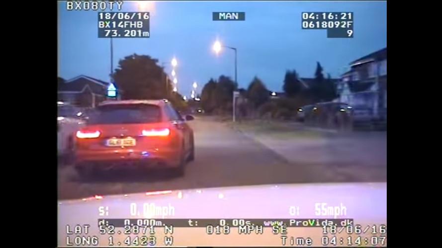 VIDÉO - Quand une Audi RS 6 tente de semer la police