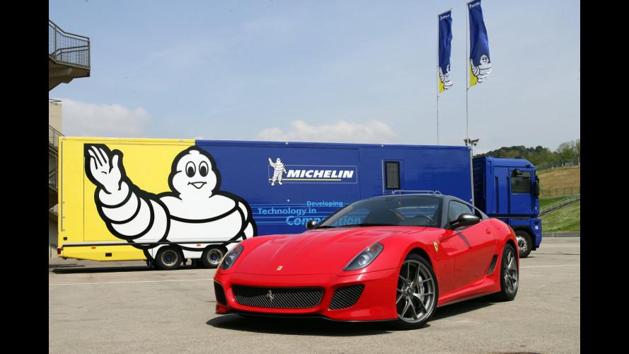 """Sono Michelin le """"scarpe"""" della Ferrari 599 GTO"""
