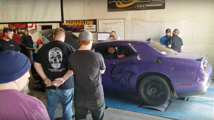 Dodge Hellcat Failed Dyno Run Ends With Flaming Brakes