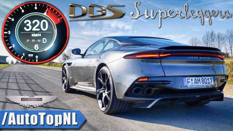 Aston Martin DBS Superleggera Pushed Hard To Nearly 200 MPH