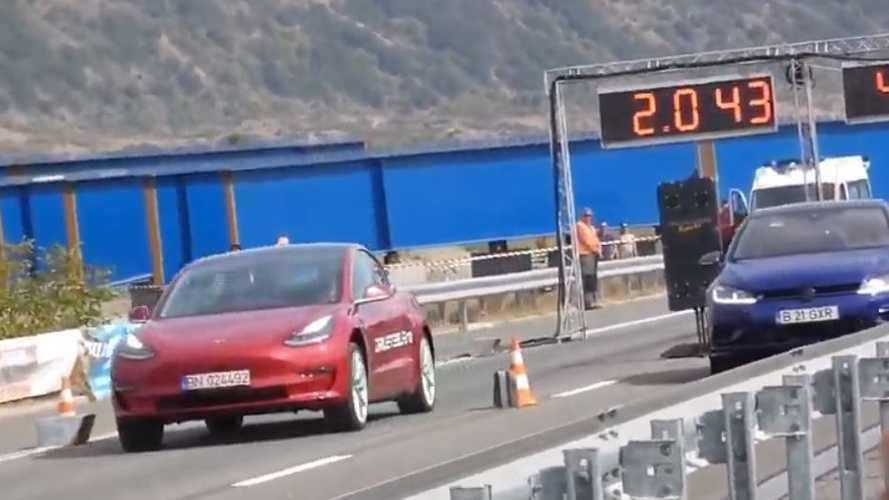 Tesla Model 3 Performance Meets Its Match In Form Of Tuned VW Golf R