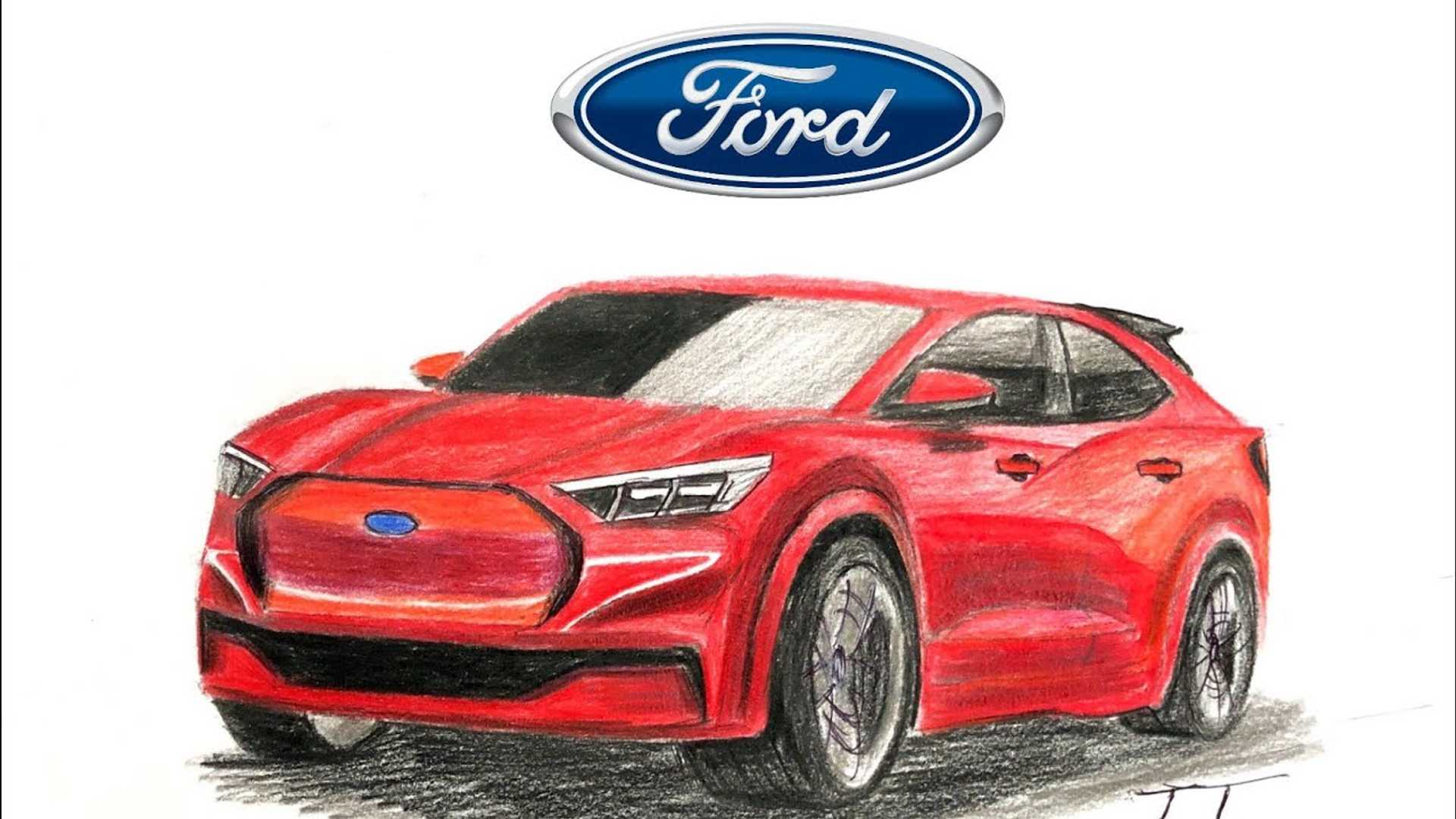 Ford Electric Car >> Ford Mustang Inspired Electric Suv Rendered To Life From Teasers