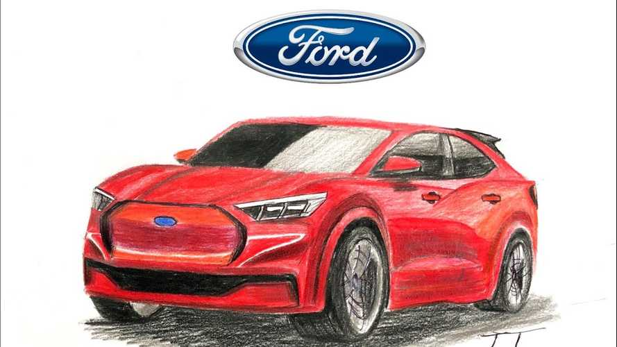 Ford Mustang-Inspired Electric SUV Rendered To Life from Teasers