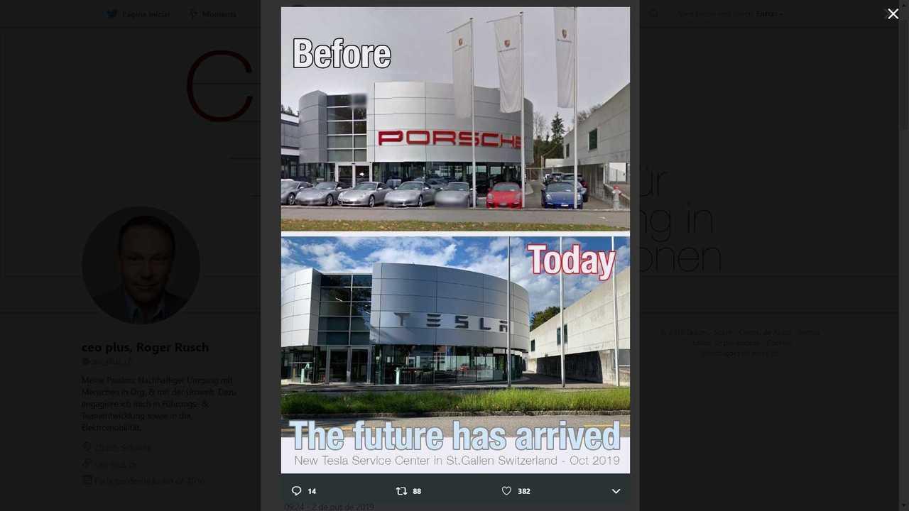 Tesla Moves Into Former Porsche Service Center in Switzerland