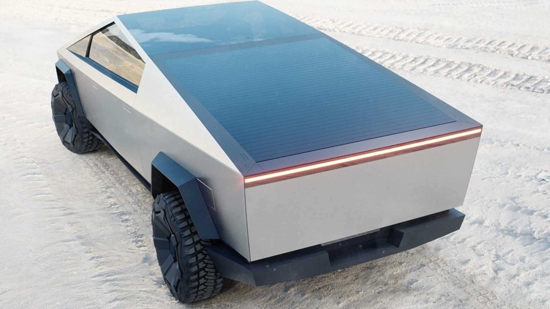 Tesla Cybertruck Videos Show Roll-Down Bed Cover, 911 Drag Race