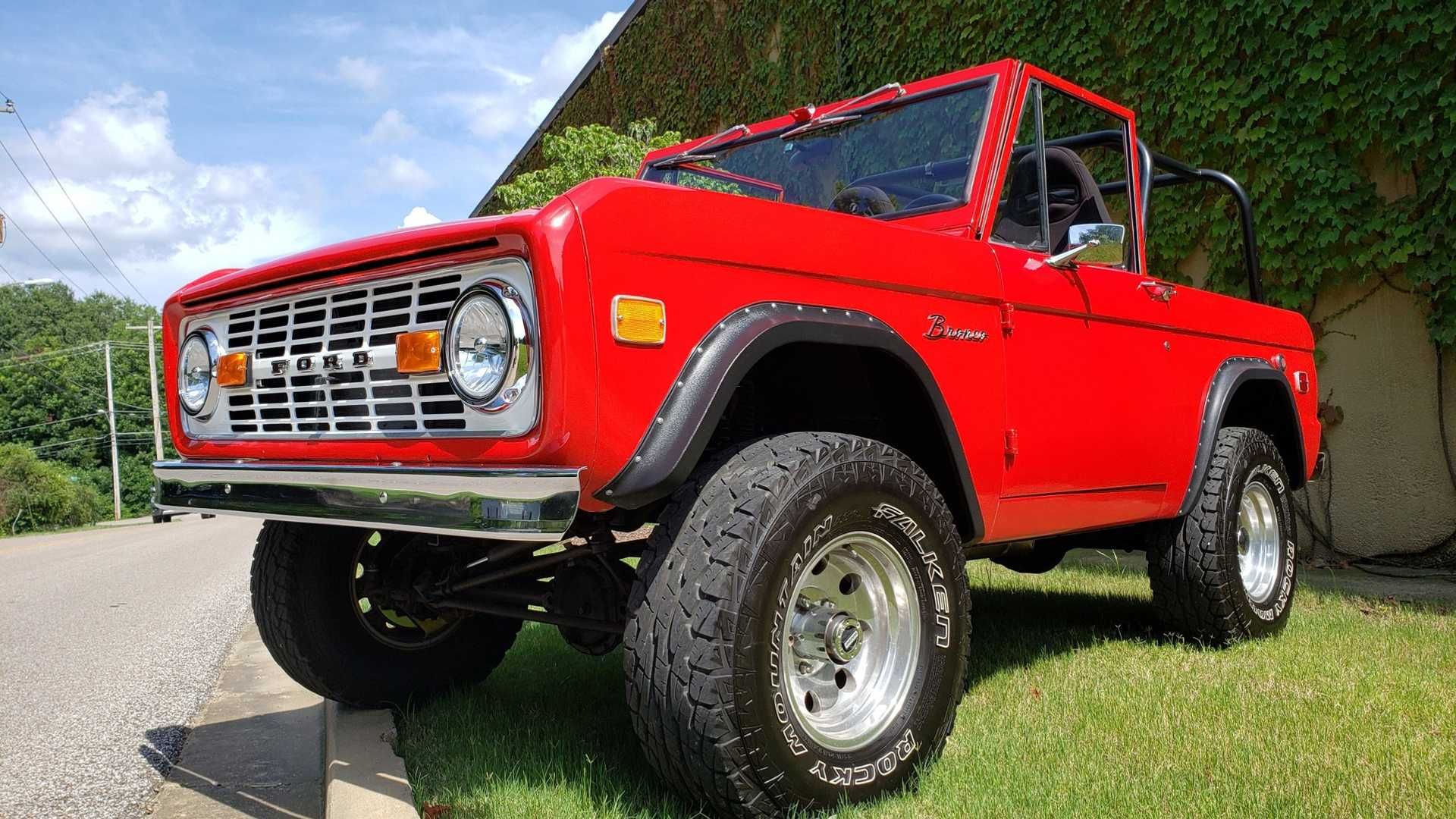"""[""""Conquer Any Terrain In This 1968 Ford Bronco""""]"""