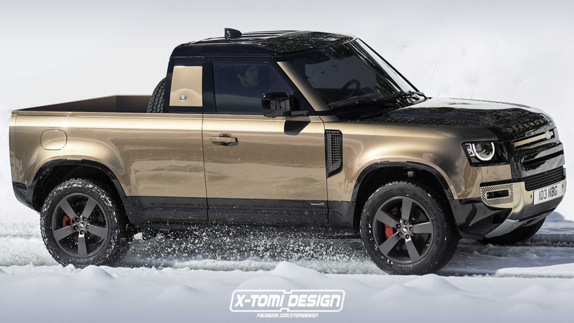 Defender Pickup Rendering Is The Rad Truck Land Rover Won't Make