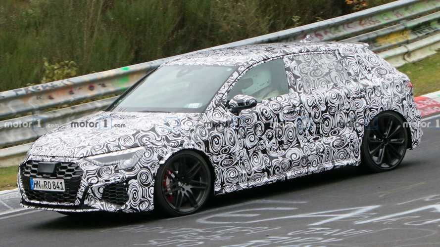 Next-Gen Audi RS3 Spy Photos Show Aggressive Front End, Wider Fenders