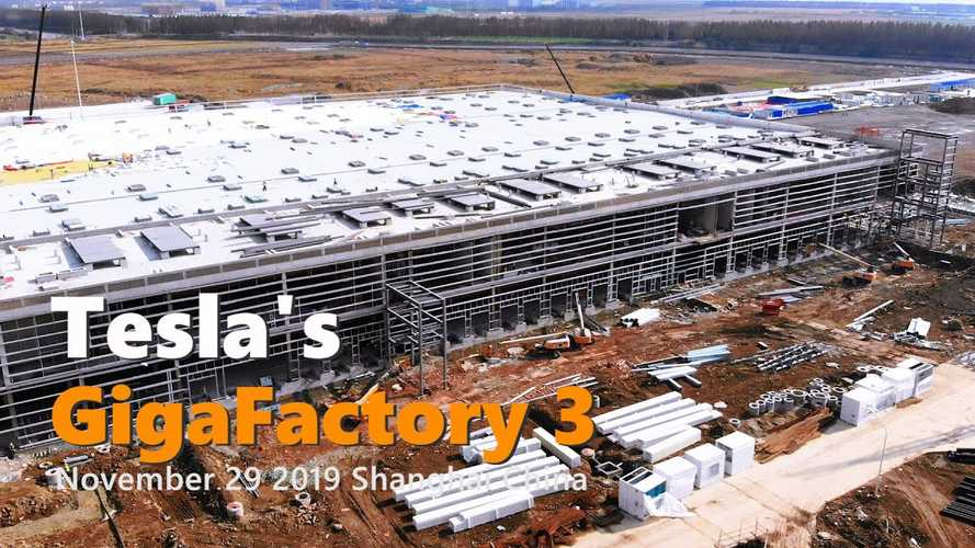 Tesla Gigafactory 3 Construction Progress November 29, 2019: Video