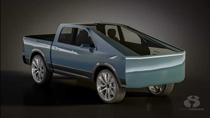 New Bizarre Tesla Truck Render Features RamBox, No Frunk, Tons Of Glass