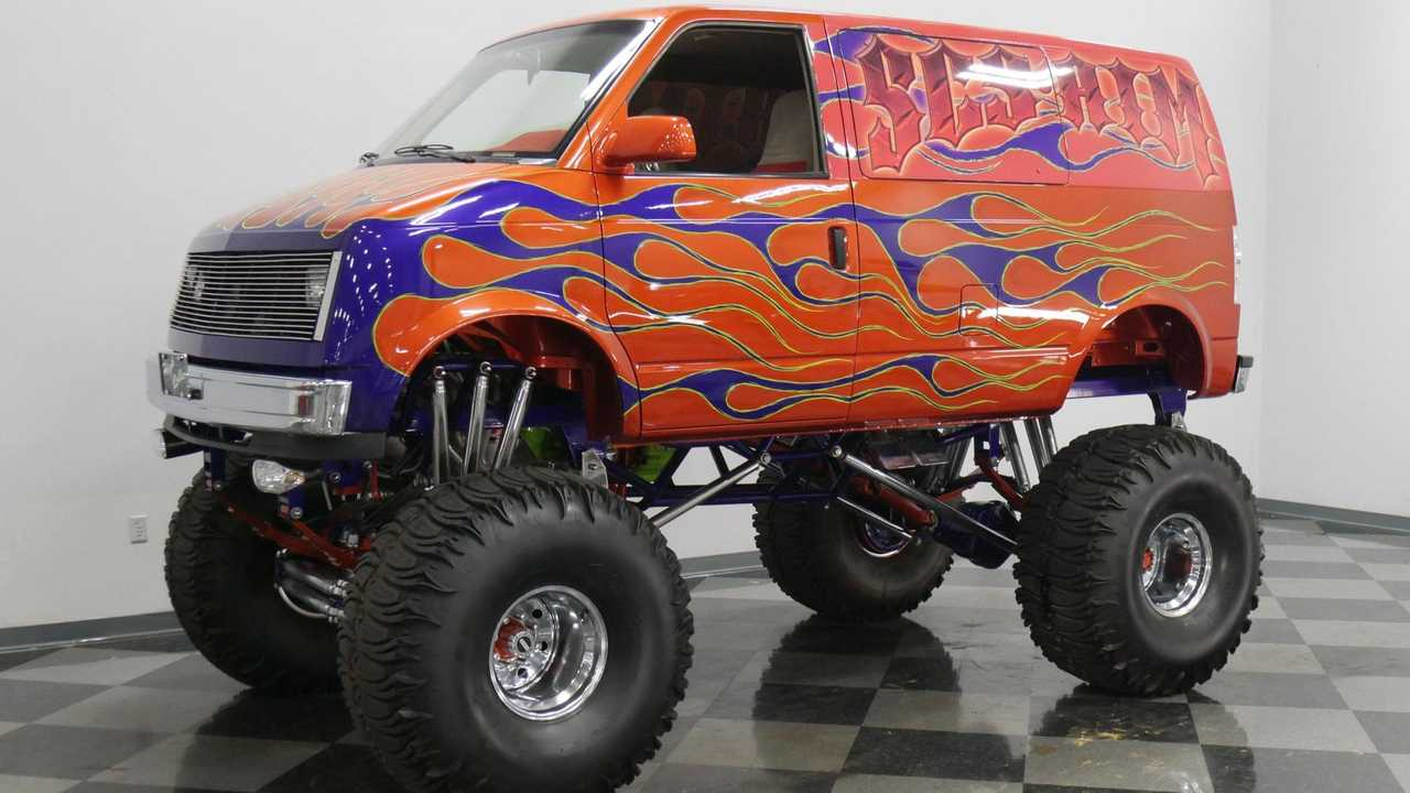 Roll Over All The Cars With A Chevy Astro Van Custom 4X4