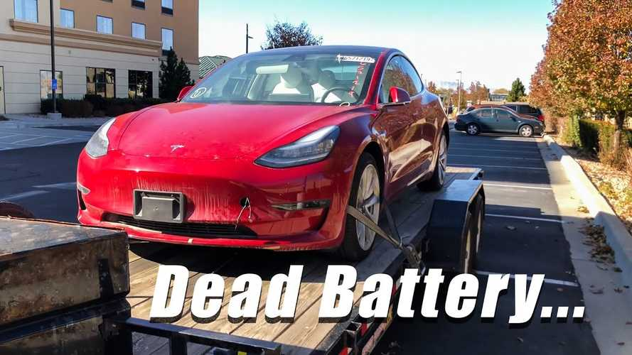 Here's What Happens When A Tesla Model 3 Battery Dies