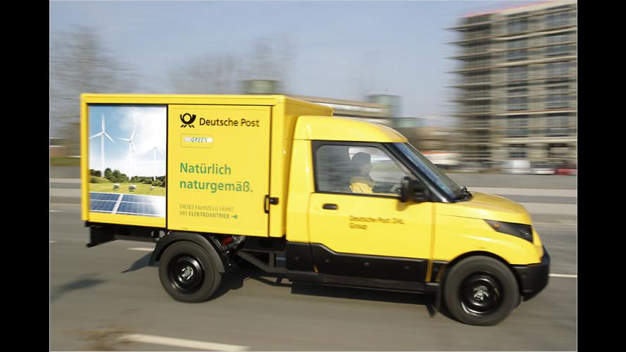Elektrischer Streetscooter Work von der Deutschen Post