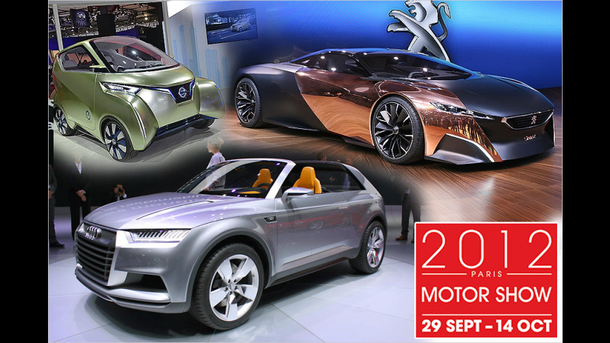 Pariser Autosalon 2012: Die Design- und Technikstudien