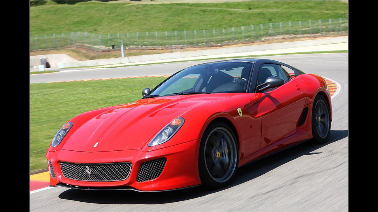 Vom Ferrari 599 GTO wurde nur ein einziges Exemplar 2013 neu zugelassen. Kein Wunder, das Auto war auf 599 Stück limitiert