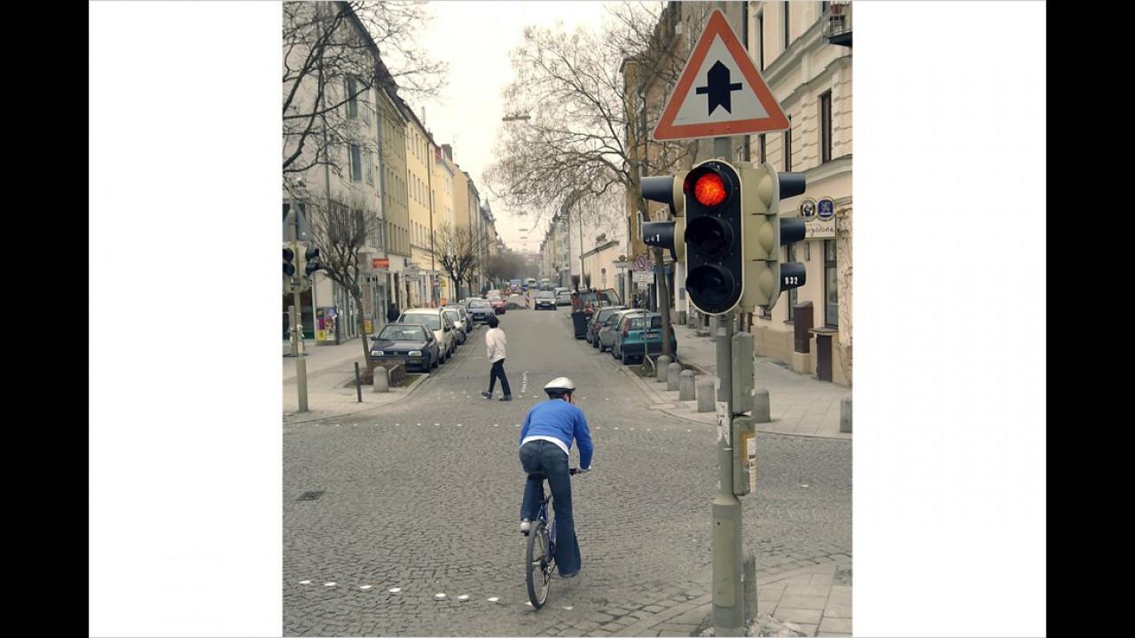 Ohne Platzierung: Rotlichtfahrer