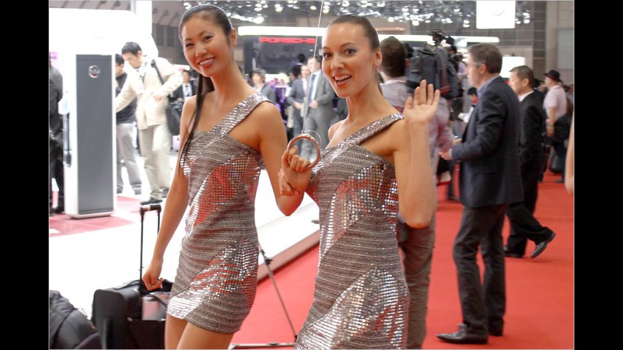Mit diesen hübschen Mädels verabschieden wir uns von der Tokyo Motor Show 2011
