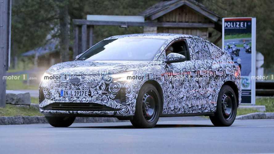 Audi Q4 E-Tron Sportback Spied With Steelies