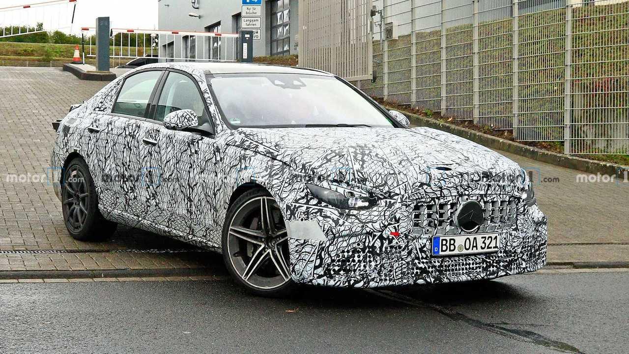 Mercedes-AMG C63 Spy Fotos der nächsten Generation