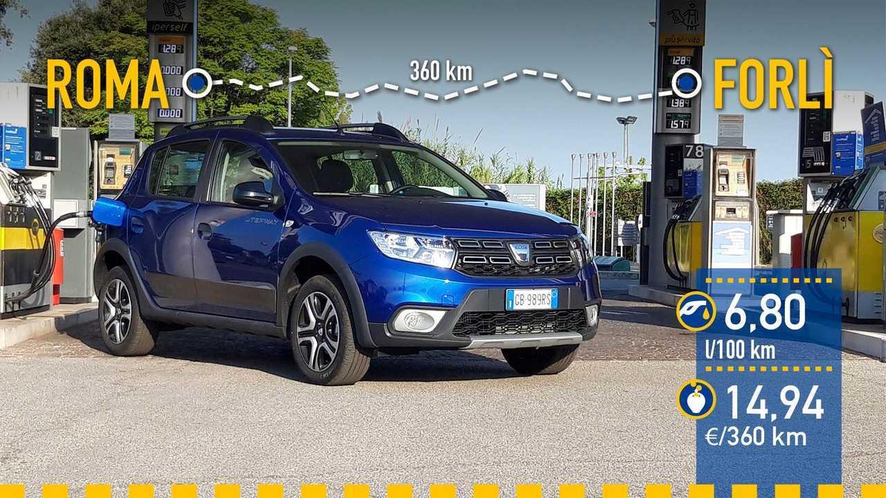 Dacia Sandero Stepway 2020, prueba de consumo