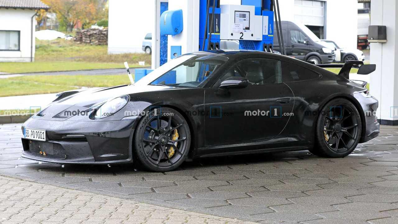 Porsche 911 GT3 Spied Up Nahe Drei Viertel Gas
