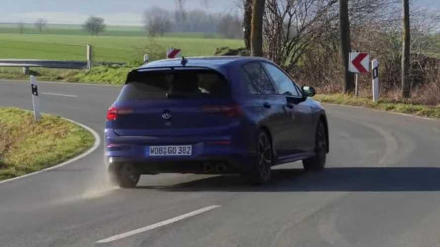 VW Golf R (2021): Video von einer Fahrt im Drift-Modus