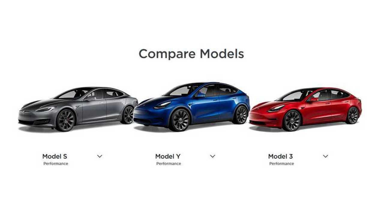 Tesla EV comparison - 20201229