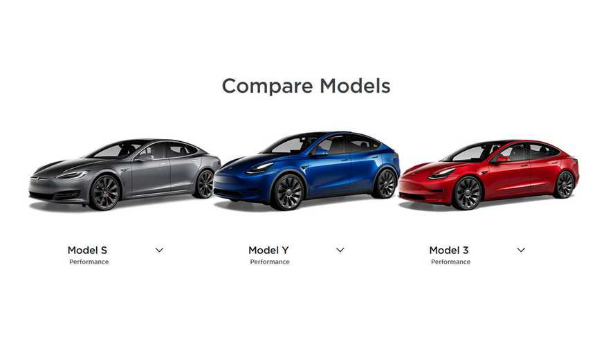 Tesla Launches New Compare EVs Card: Model S/3/X/Y