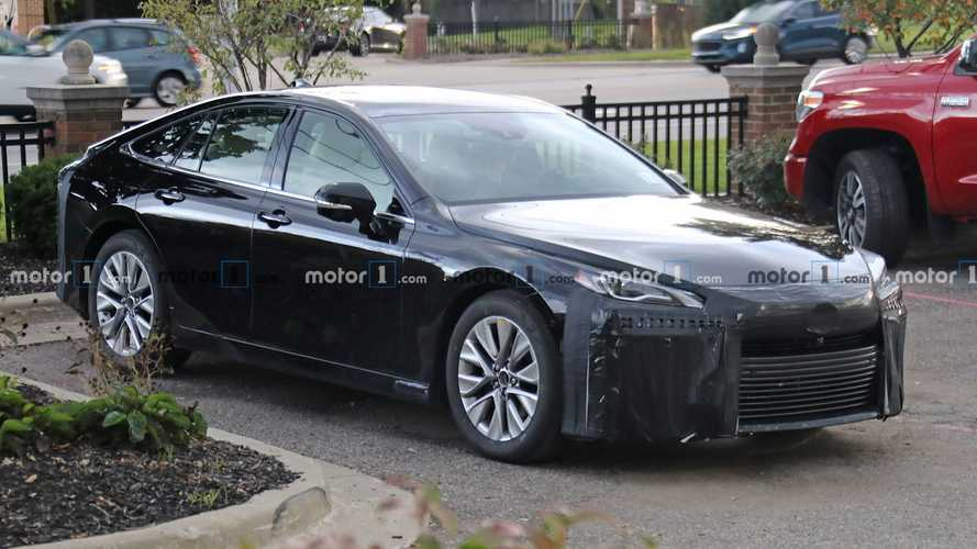 Next-Gen Toyota Mirai Spied With Little Camouflage Hiding Sleek Design