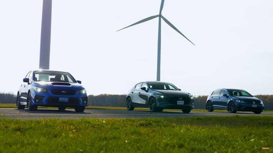 Mazda3 AWD Turbo Makes Drag Race Debut Against WRX, VW Golf R