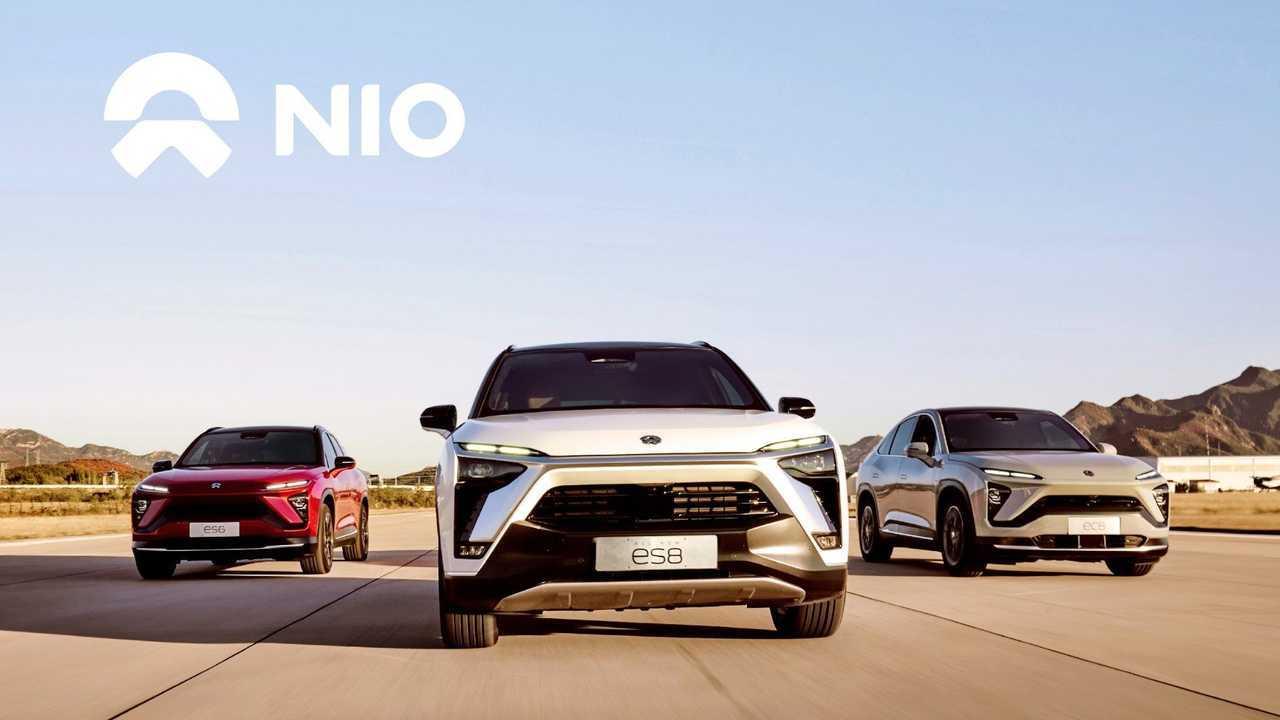 from left: NIO ES6, ES8 and EC6