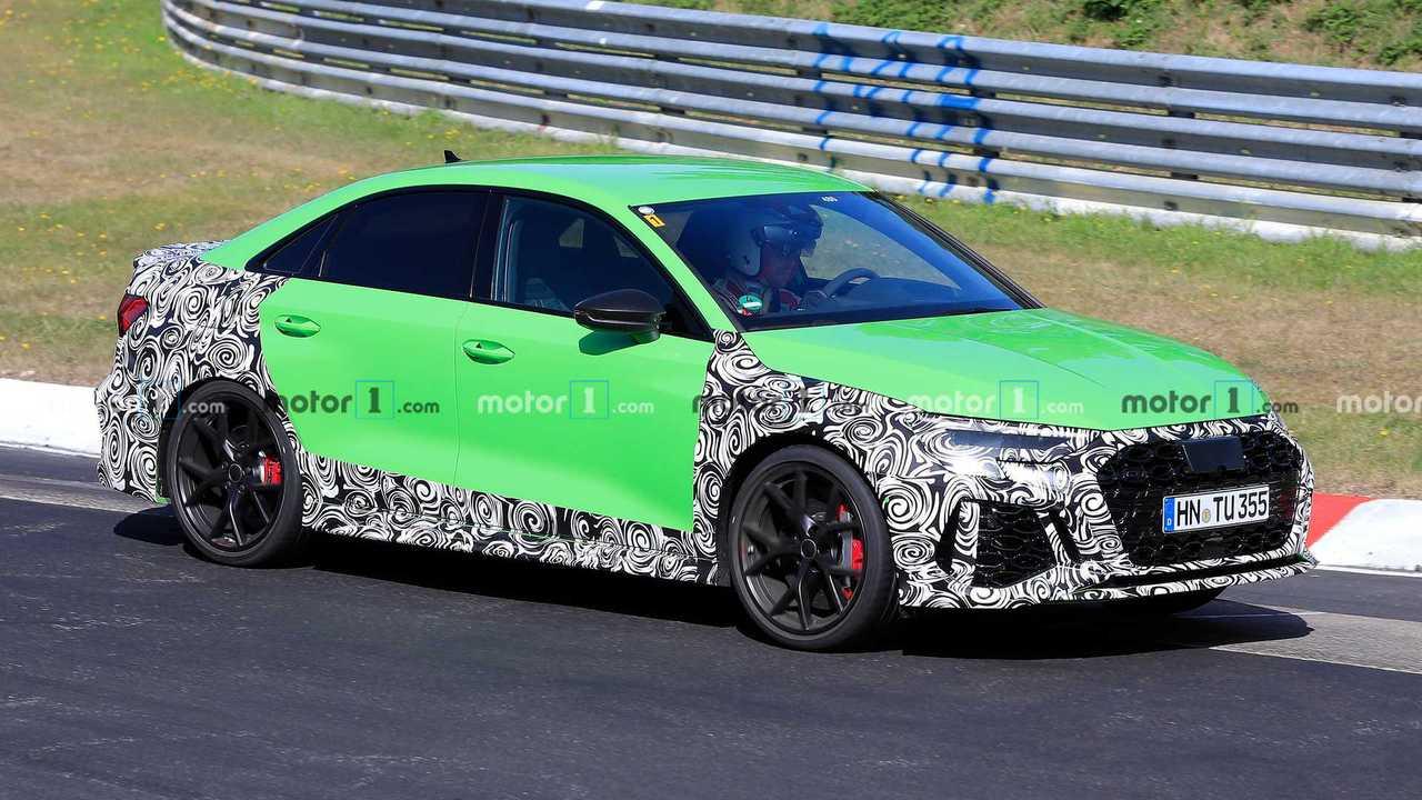 2021 Audi RS3 Sedan Spy Photo Side