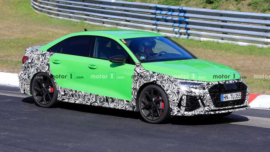 2021 Audi RS3 Saloon spied hulking out on the Nurburgring