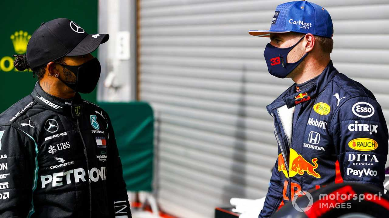 Lewis Hamilton and Max Verstappen at Belgian GP 2020