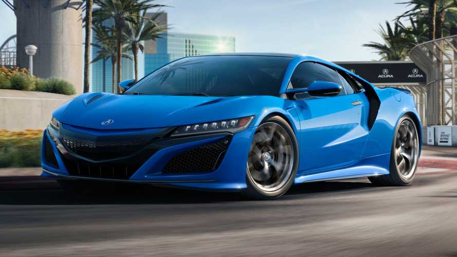 2021 Honda NSX looks retrotastic with Long Beach Blue Pearl paint