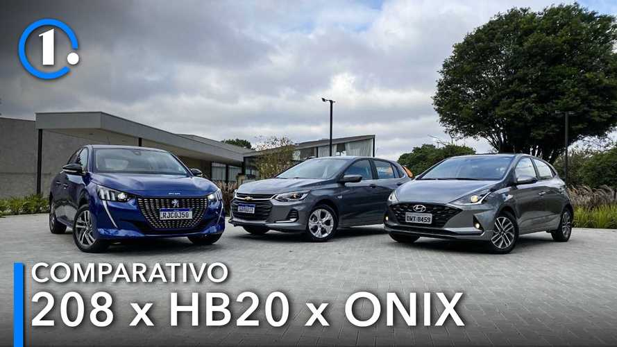 Comparativo: Novo Peugeot 208 Griffe desafia os líderes Onix e HB20